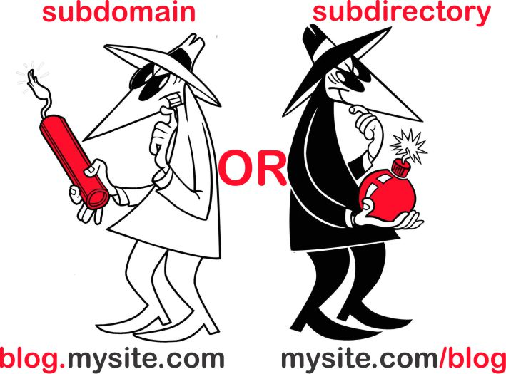 subdomain or subdirectory